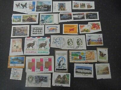 Lot 86) Collection Mixture Bulk Lot of World stamps on paper at a low price