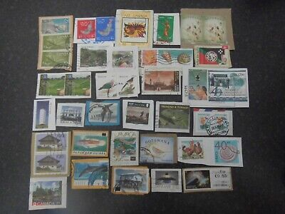 Lot 87) Collection Mixture Bulk Lot of World stamps on paper at a low price