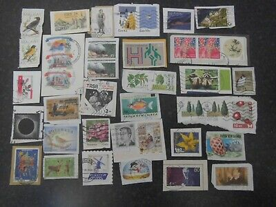 Lot 90) Collection Mixture Bulk Lot of World stamps on paper at a low price