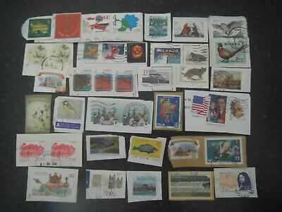 Lot 91) Collection Mixture Bulk Lot of World stamps on paper at a low price
