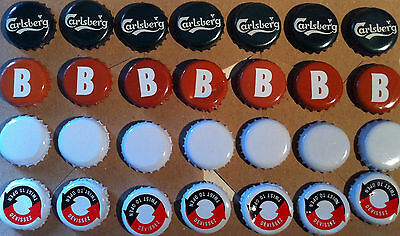 28 Beer Cider Bottle Tops Carlsberg Brothers Letter Initial B Caps Man Cave Bar