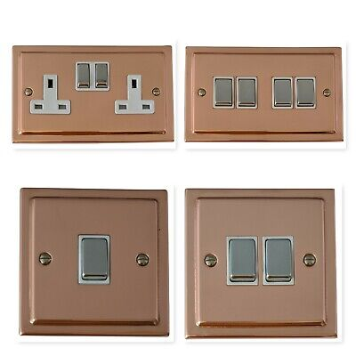 Bright Copper TBC2 Plug Sockets, Light Switches, Dimmer Switch, Cooker, Toggle