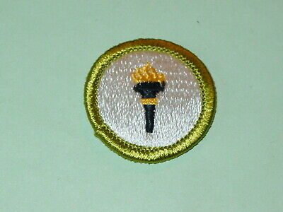 Vintage BSA Merit Badge Public Health Type H NOS Never Used Boy Scout Patch