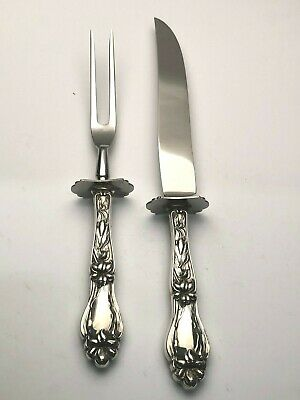Lily-FLoral by Frank Whiting Sterling Silver 2 piece Small Carving Set