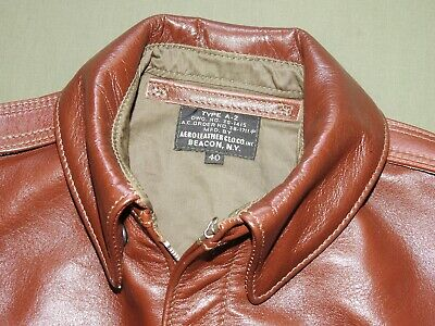 US Army AAF WW2 AERO PILOT EARLY A-2 RUSSET HORSEHIDE LEATHER FLIGHT JACKET Coat