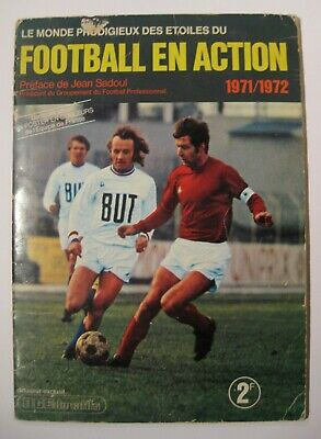 Football en action 1971/72 Album collecteur de vignettes Complet + poster TBE