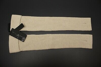 $450 Donna Karan Womens Cashmere Arm Warmers Sleeve Long Fingerless Gloves Italy