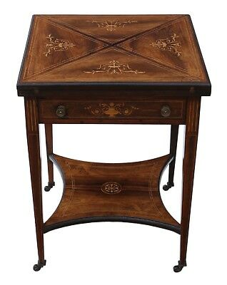 Antique top quality Victorian C1890 inlaid rosewood games or card table