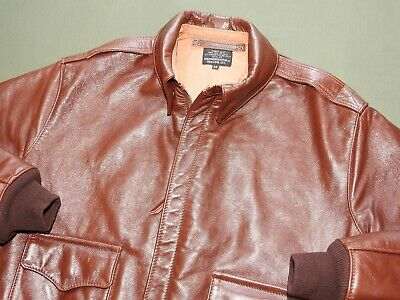 US Army AAF WW2 AERO PILOT EARLY A-2 RUSSET HORSEHIDE LEATHER FLIGHT JACKET MINT