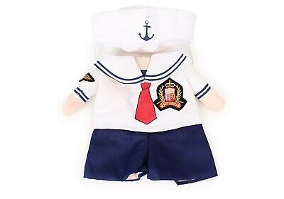 Nacoco Dog Sailor Costumes Navy Suit With Hat Halloween Pet Costumes Size L