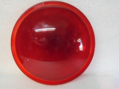 vintage RED GLASS LENS lantern TRAFFIC signal 8-1/4 inch 8378D $29.95 SHIPPED