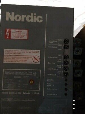 NORDIC Controls. 100 HP solid state reduced voltage motor controller. 2634S00