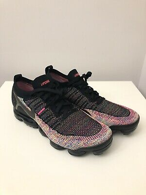 Nike Air VaporMax Flyknit 2 Running Shoes Black/Multi-Color Size 12.5 942842-017