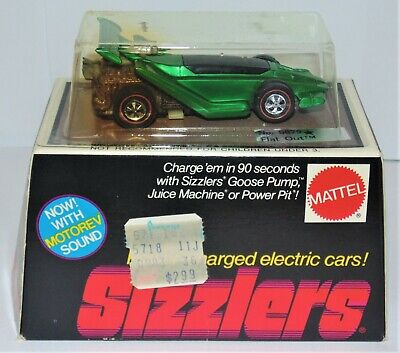 Mattel 1969 Hot Wheels Redline Sizzlers 5879 Flat Out SEALED Unopened Box
