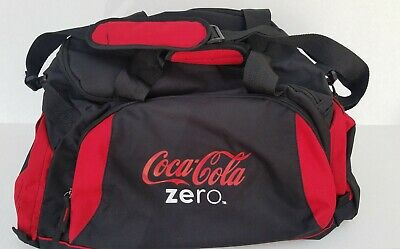 Coca Cola Zero Duffle/Gym Bag/Backpack/ With Shoulder Strap Black/Red