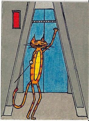 """Artist Signed Print Star Trek Cats #30 ACEO 2.5/"""" x 3.5/"""" By Pierre Molangi"""