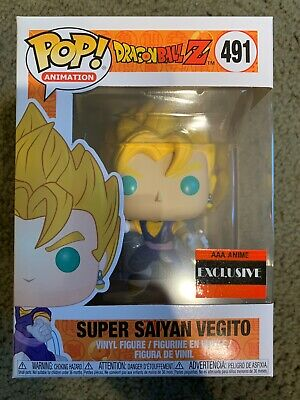 Funko Pop! Dragon Ball Z Super Saiyan Vegito #491- AAA Anime Exclusive