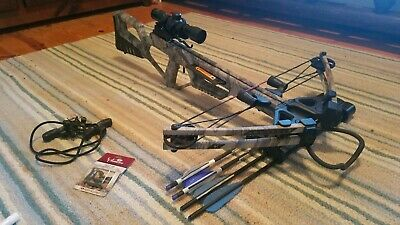 Kronicle Ready to Shoot Crossbow with Illuminated Scope Quiver Bolts Cocking