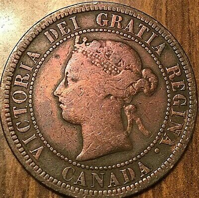 1876 H Canada Large 1 Cent Penny