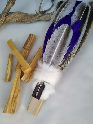 Smudge Feathers Fan-Spiritual Cleanse-Healing-Shaman Tool