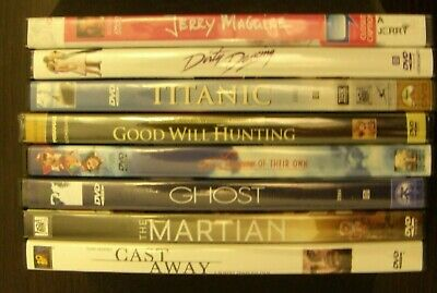 DVD Lot of 8: Maquire; Titanic; Good Will; Ghost; Martian, Dirty Dancing; Others