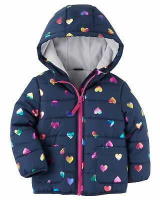 Carters Fleece Lined Puffer Jacket Girl/'s Size 18M-3T New with Tags C2175194-CT
