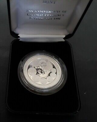 1996 Australia 30th Anniv of Decimal Currency 1 oz Silver ( .999 ) Proof $1 coin