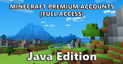Minecraft Java Edition Premium Account! Full access (Game Account Only, NO BOX)
