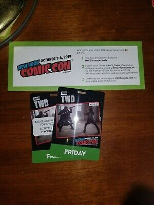 ***2019 Nycc Comic Con Badge Ticket Friday 10/04 Javits Center Nyc***