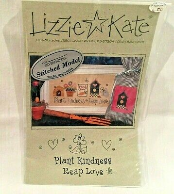 Lizzie Kate Counted Cross Stitch Chart Pattern #079 Plant Kindness Reap Love New