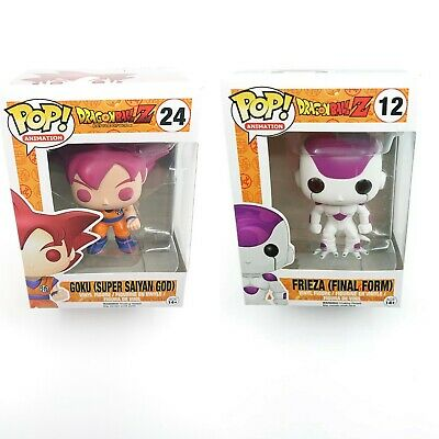 Funko Pop! Dragon Ball Z Goku Super Saiyan God Frieza Final Form Vinyl Figures