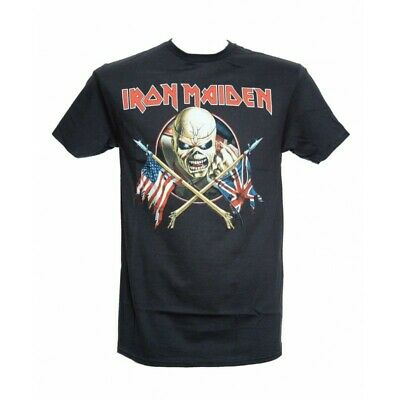 T-Shirt IRON MAIDEN CROSSED FLAGS  - Size M - New - Official merchandising