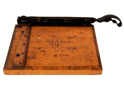 "Small Vintage Antique Paper Photo Guillotine Trimmer The ""Jaynay"" 5"" Photography"