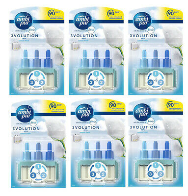Ambi Pur 3Volution Plug In Refills - Cotton Fresh 6 Pack