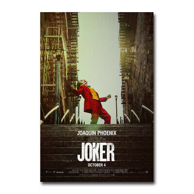 Joker Movie Poster 2 Joaquin Phoenix Art Silk Canvas Poster Print 13x20 32x48''