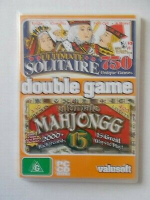 + Ultimate Solitaire & Mah Jongg [Pc Cd-Rom]  [Brand New] Aussie Seller