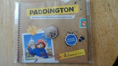 2019 Paddington Bear At St Pauls B Uncirculated From The Royal Mint In Folder