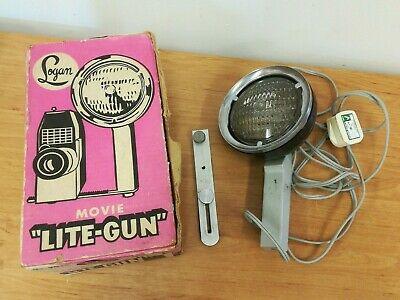 Vintage Logan Movie ''Lite-Gun'' with Original Box - **Working** (D4)