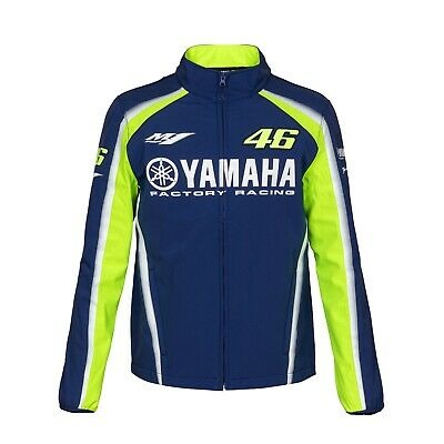 Valentino Rossi VR46 Moto GP Yamaha Team Soft Shell Jacket Coat Blue - Mens