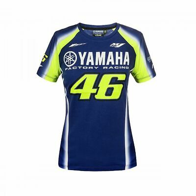 Valentino Rossi VR46 2018 Moto GP Yamaha Team T Shirt Top - Ladies / Womens