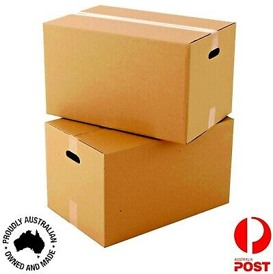 5-50 x Moving Cardboard Packing Boxes 70Litres Cartons With Handle-Same Day Post