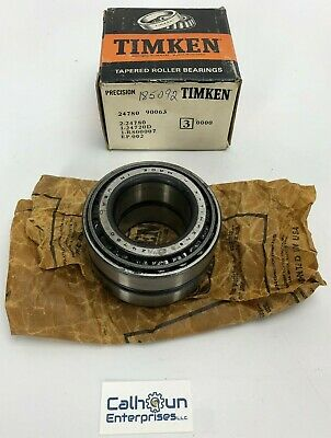 Timken 24780 90063 Double Row Tapered Rolling Bearing Set, 24720D, R800007