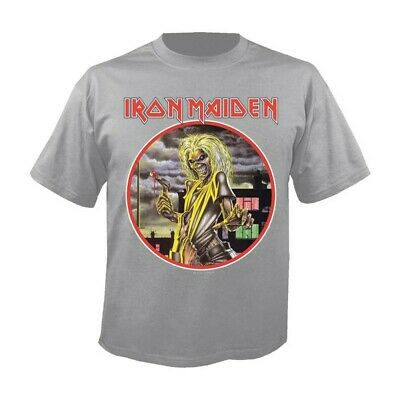 T-Shirt IRON MAIDEN Killers circle grey - Size L - New - Official merchandising