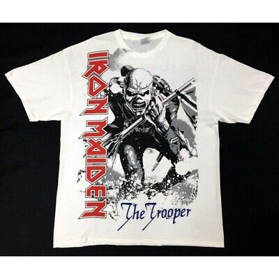 T-Shirt IRON MAIDEN White Trooper - Size M - New-Official merchandising