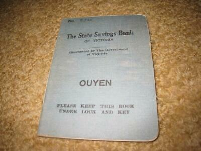 """Old Vintage """"The State Savings Bank Of Victoria"""" Deposit Book - Ouyen Dated 1934"""