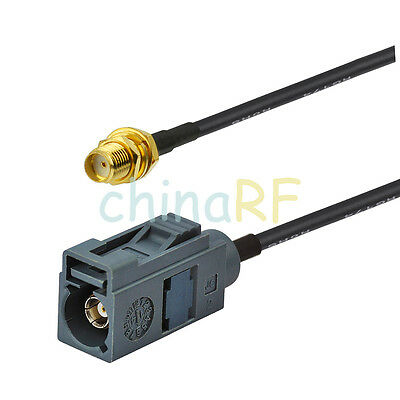 "Fakra Jack ""G"" Female to SMA female pigtail cable RG316 6inch for remote control"