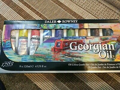 New Daler & Rowney jumbo Georgian Oil Paints Jumbo Set 9 Tubes 120ml  Oil Paints