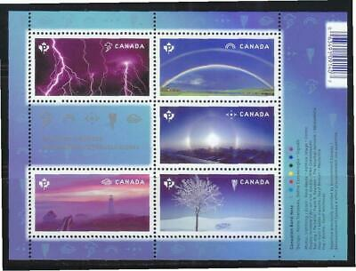 Canada 2015 Weather Wonders Souvenir Sheet Of 5 Stamps Mint Mnh Unused Condition