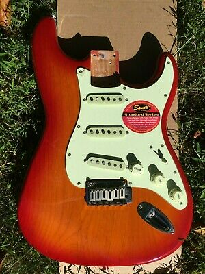 LOADED Fender Squier Standard Stratocaster Strat BODY Guitar Sunburst
