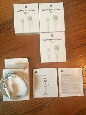 (3X) LOT Authentic OEM Apple Lightning USB Charger Cables iPhone 6 7 8 X 3ft/ 1M